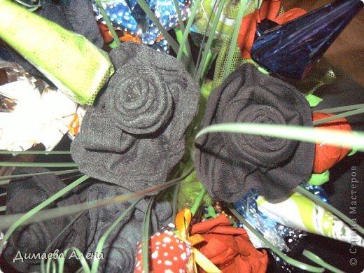 Розы из носков фото 1