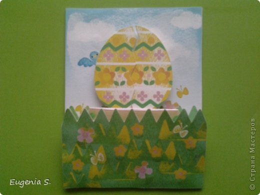 Такую открытку я сделала в подарок, никогда не делала открыток и ни как не могла придумать что и как сделать. фото 2