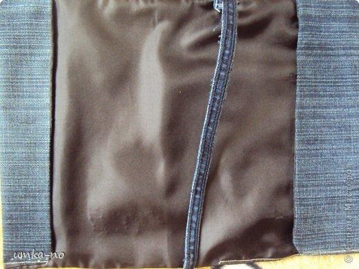 Я тоже попробывала шить и мне так понравилось!А еще больше надоело,что джинсы которыми не пользуемся перекладываем с полки на полку потому что выбросить рука не поднимается.И так не судите строго-это мой дебют. фото 21
