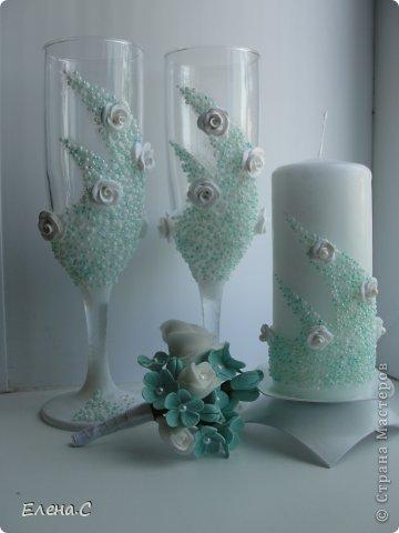 Свадебный набор Аквамариновый