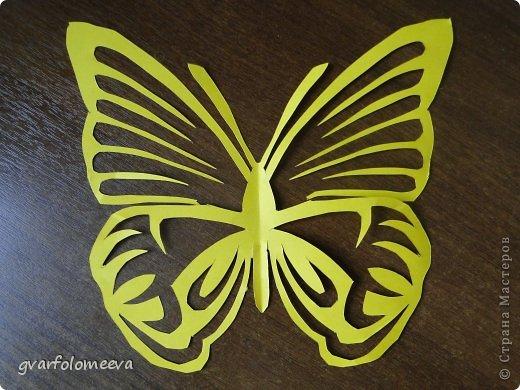 Декор предметов Вырезание Бабочки+схема Бумага фото 1