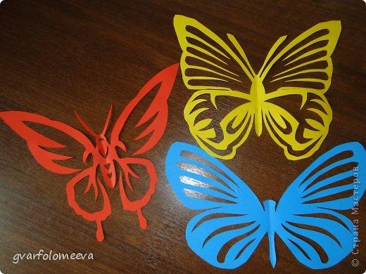 Декор предметов Вырезание Бабочки+схема Бумага фото 4