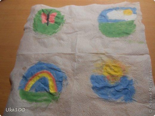 Что бы вы смогли нарисовать на салфетке аккуратный рисунок, нам понадобиться:Вода, тонкая кисточка, пастель, бумага,салфетка(и может быть карандаш, если Вы будите рисовать им) фото 1