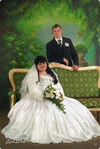 Скоро годовщина нашей свадьбе..2 года...вот почему то захотелось сейчас выложить украшение на машину, которое делала сама, для нас... фото 3