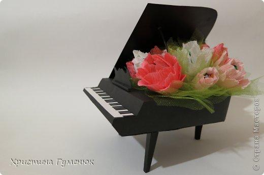 Здравствуйте! Очень давно хотела сотворить рояль... И вот лучше случая не придумаешь - день рождение у девочки-пианистки!  фото 10