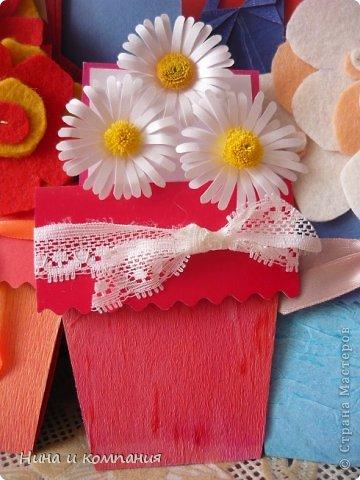 Такие открытки и шоколадница мои дети делали в подарок на 8 марта, а я им немного помогала. фото 20
