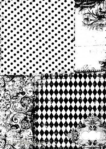 """Я увлекаюсь скрапбукингом, но к сожалению не имею цветного принтера для печатания красивых фонов. Недавно купила набор черно-белой скрап-бумаги форматом 15х15 и отсканировала в формате """"черно-белый рисунок или текст"""". Теперь распечатываю на цветной бумаге. фото 2"""