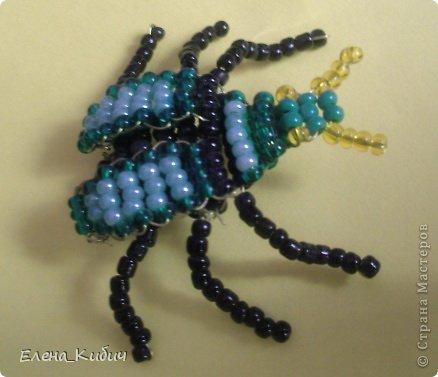 Навозный жук из бисера схема