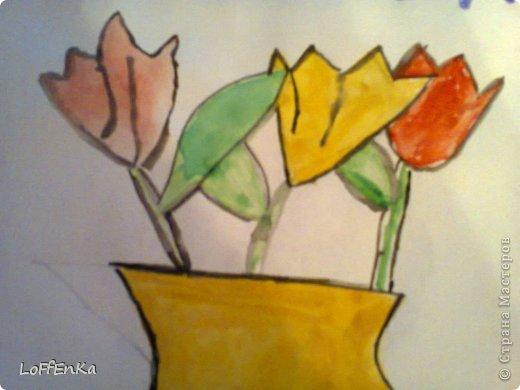Мы рисовали на уроке тюльпаны. фото 2