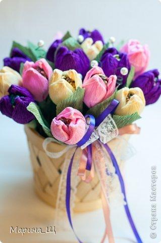 Весенние тюльпаны из конфет!