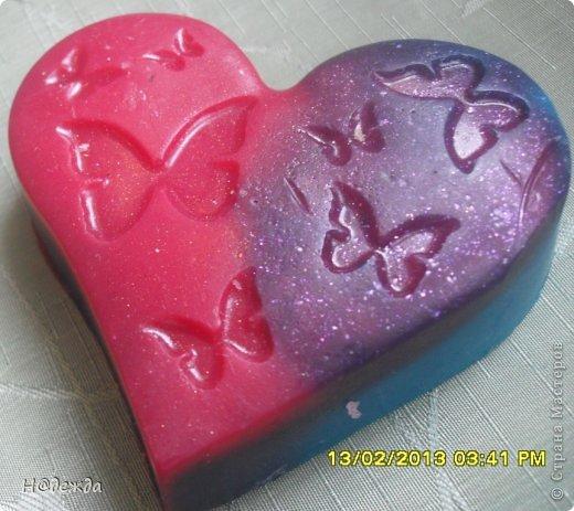 Вот наварилось немного мылок к праздникам.   Это самоя моя любимая форма к 8 марта с ароматом клубники фото 7