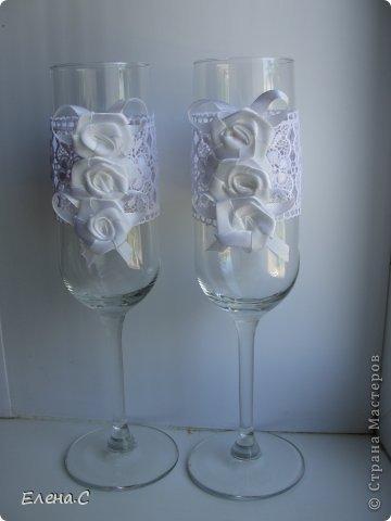 Свадебные бокалы ажурные фото 1