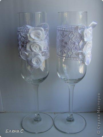 Свадебные бокалы ажурные фото 2
