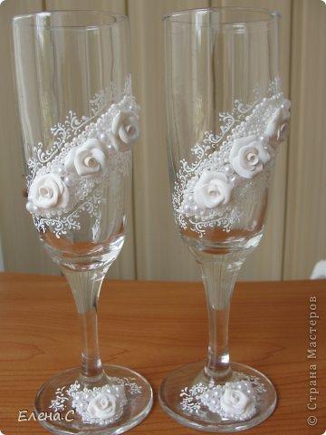 Бокальчики свадебные фото 3
