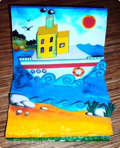 С ностальгии по детским книжкам, придумала объемные конструкции для летнего фотоальбомчика. Раскрашенные заготовки отсканировала и распечатала и получилось это... фото 2