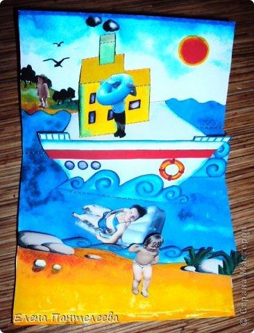 С ностальгии по детским книжкам, придумала объемные конструкции для летнего фотоальбомчика. Раскрашенные заготовки отсканировала и распечатала и получилось это... фото 3