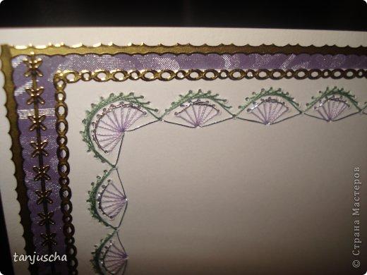 Всем привет. У меня сегодня открыточка. Как всегда использовала 2 техники пергамано и изонить. Также вырубки картинка 3д и стикеры фото 6