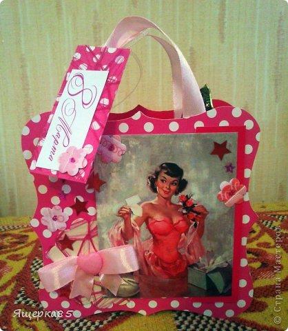 """В этом году """"родились"""" вот такие небольшие (12 см) подарочные сумочки.  Не то, чтоб шоколадницы, но что-то типа :) фото 7"""