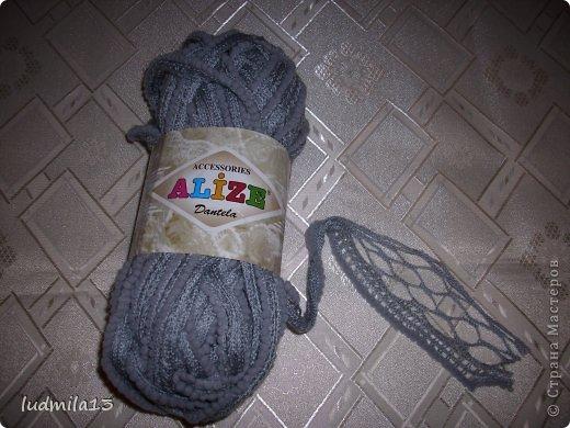 Ураааа!!! И я научилась вязать шарфики из ленточной пряжи!! фото 2