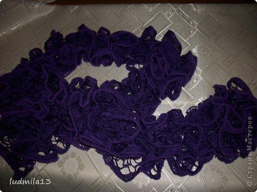 Ураааа!!! И я научилась вязать шарфики из ленточной пряжи!! фото 6