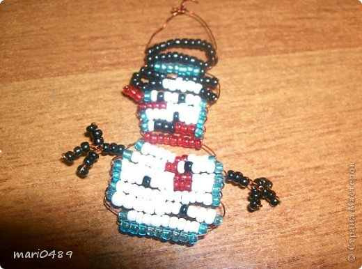 Игрушка Поделка изделие Бисероплетение мои маленькие игрушки Бисер Проволока фото 5.