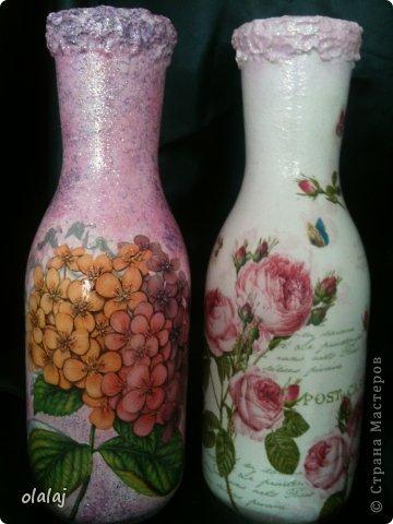 Вазы из бутылок. фото 1