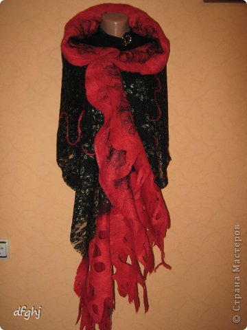 шарф- палантин ,,Красная река,, фото 2