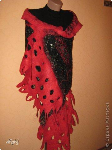 шарф- палантин ,,Красная река,, фото 4