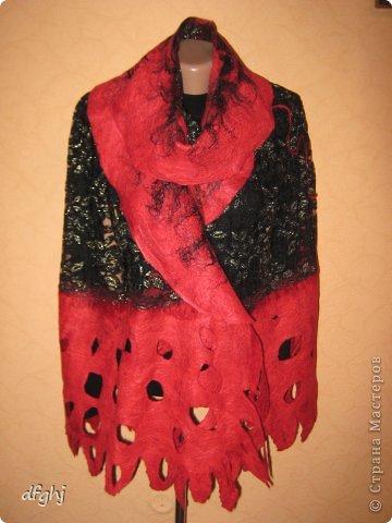 шарф- палантин ,,Красная река,, фото 3