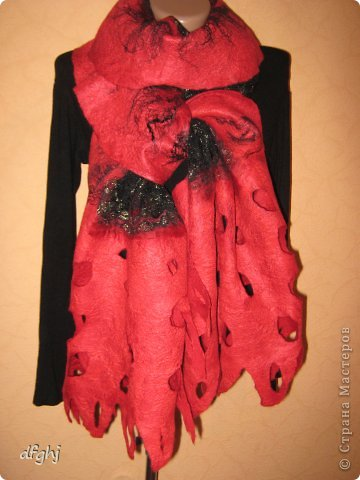 шарф- палантин ,,Красная река,, фото 1