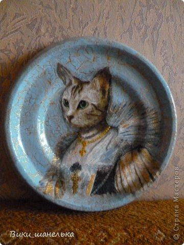 К 8 Марта сделала подруге вот таких котиков. Кошечка мне самой понравилась. Прямо Леди!!! фото 3
