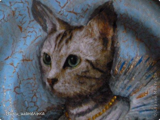 К 8 Марта сделала подруге вот таких котиков. Кошечка мне самой понравилась. Прямо Леди!!! фото 5