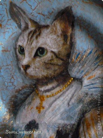 К 8 Марта сделала подруге вот таких котиков. Кошечка мне самой понравилась. Прямо Леди!!! фото 1