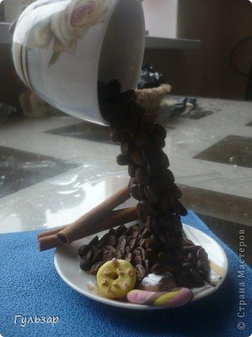 Так делаю это я.  Установила каркас из проволки,укрепленной на эпоксидный клей,дно выложила зернами кофе. фото 6