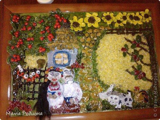 украинская хатка..подарила своему дедушке..насмотрелась  на работы наших Мастеров и вот что получилось...спасибо всем  фото 1