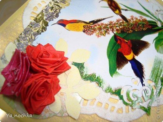 Открыточки делала для близких женщин на 8 марта, простенькие, быстро сложились)))))))))))желтенькие, в общем миленькие, на мой взгляд, получились)))) фото 7