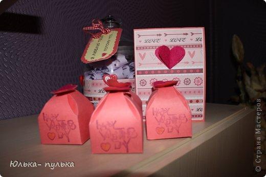 """Мой подарок мужу на День влюбленных!!! Баночка """" Я люблю тебя потому что..."""" и открытка. фото 2"""
