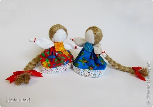 Приглашаю полюбоваться куклами которые у меня получились. Мне самой и удивительно и радостно. И они действительно волшебные. Может они не совсем по правилам, но хорошим настроением и и пожеланиями наполнены в полной мере. фото 7