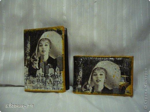 Комплект из обложки на паспорт и визитницы фото 1