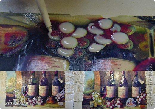 Картина панно рисунок Мастер-класс День рождения Декупаж МК панно Погребок  фото 17