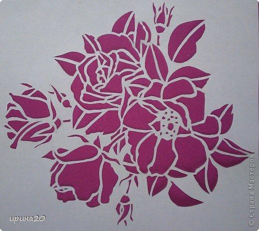 Картина панно рисунок Вырезание роза Бумага фото 2