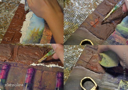 Картина панно рисунок Мастер-класс День рождения Декупаж МК панно Погребок  фото 21