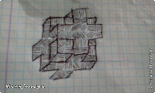 Научу я вас сегодня рисовать такие кубики-кресты. фото 8