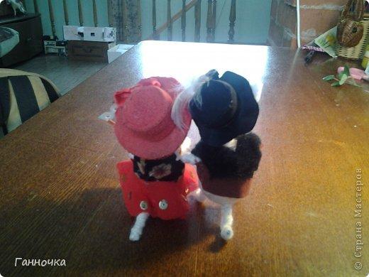 Итак, каждые выходные я продолжаю делать этих милах...) На заказ, в подарок, просто так... Но позавчера у меня просто было отличное настроение и появились эти два шляпника=) фото 4