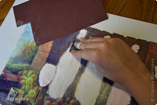 Картина панно рисунок Мастер-класс День рождения Декупаж МК панно Погребок  фото 8