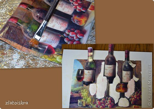 Картина панно рисунок Мастер-класс День рождения Декупаж МК панно Погребок  фото 9