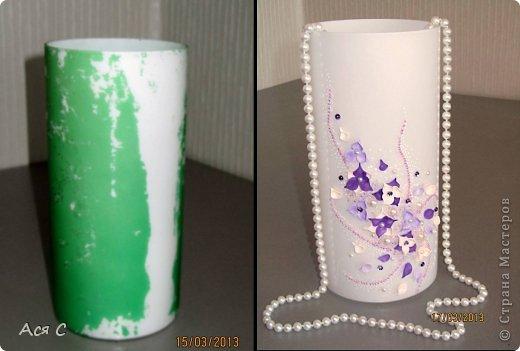 Декор предметов Лепка Реанимация старой вазы Бисер Бусинки Глина фото 1.