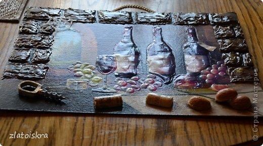 Картина панно рисунок Мастер-класс День рождения Декупаж МК панно Погребок  фото 6