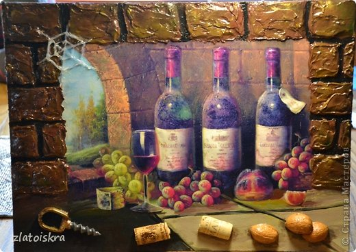 Картина панно рисунок Мастер-класс День рождения Декупаж МК панно Погребок  фото 29