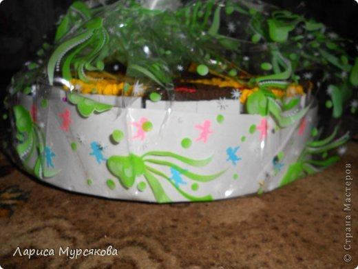 """Доброе время суток, жители любимой страны! Вот я с очередным творением. Сестру младшую на День рождения  захотелось удивить, и """"приготовила"""" тортик, для начинки использовав приятные мелочи. Сестра осталась довольна. Подобный тортик увидела давно, только все повода не было для воплощения. http://moerukodelie.blogspot.ru/2012/03/blog-post_26.html     http://www.artfrank.ru/recipes/323-отсюда скачала шаблон для распечатки кусочков. фото 17"""